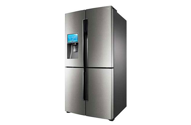 small refrigerator shopping smart refrigerator runs apps for shopping lists recipes world