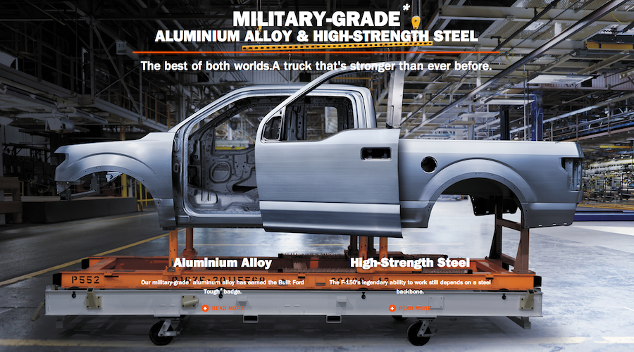 tough trucking fords all new aluminum encased f 150 takes durability testing to the next level