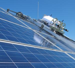 sintef prodsp develop a green energy efficient solar panel cleaning robot world industrial. Black Bedroom Furniture Sets. Home Design Ideas