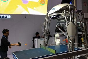 Omron Ping Pong Robot CES 2018