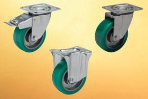 Elesa Soft Polyurethane Wheeled Casters RE.F2-N