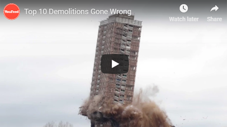 Top 10 demolitions gone wrong