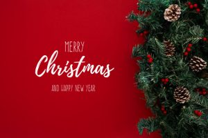 merry christmas topic red background with christmas tree 24972 687