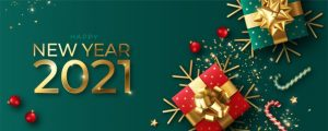happy new year realistic banner with red green decoration 1361 3172